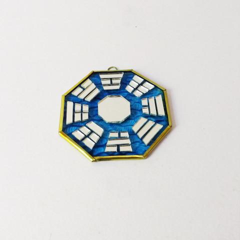 RO5500-5 - Bagua de Espelho c/ Escrita Azul (9 cm)