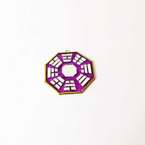 RO5500-1 - Bagua de Espelho Roxo (9 cm)
