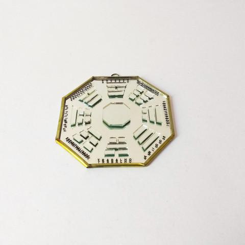 RO5500-6 - Bagua Vidro C/ Trigramas Espelho (10cm)