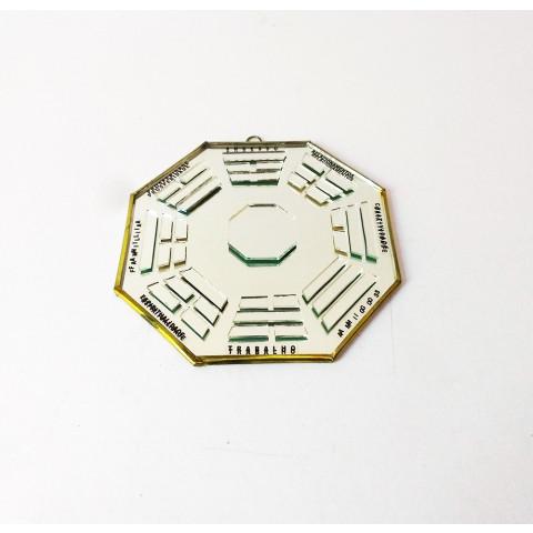 RO5505-6 - Ba-gua Vidro C/ Trigramas e Escrita Espelhado (15cm)