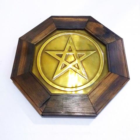 ME3032-06 - Quadro Octagonal Pentagrama (M)