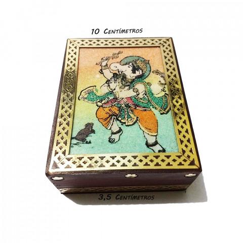 JMD808-3 Porta Joias Decorado - Ganesh Dançando (P)