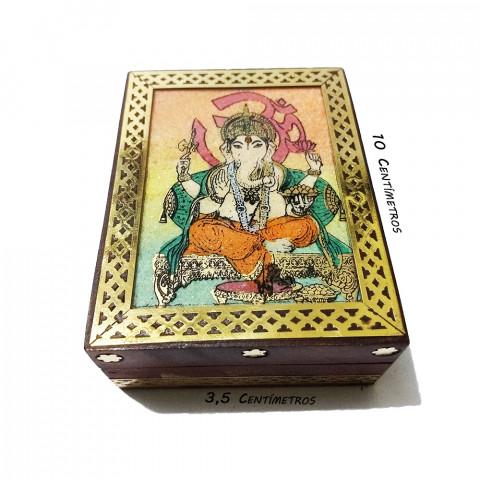 JMD808-4 Porta Joias Decorado - Ganesh c/ OM (P)