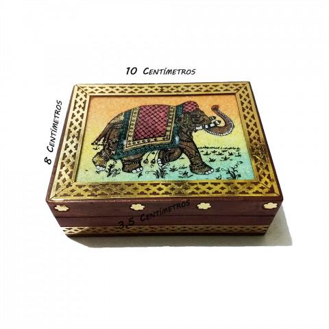 JMD808-2 Porta Joias Decorado - Elefante Indiano  (P)
