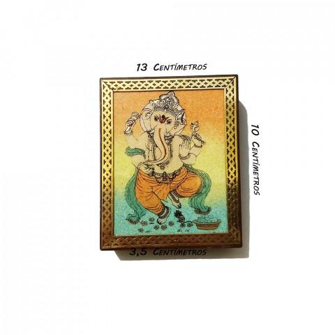 JMD809-1 Porta Joias Decorado - Ganesh Dançando (M)