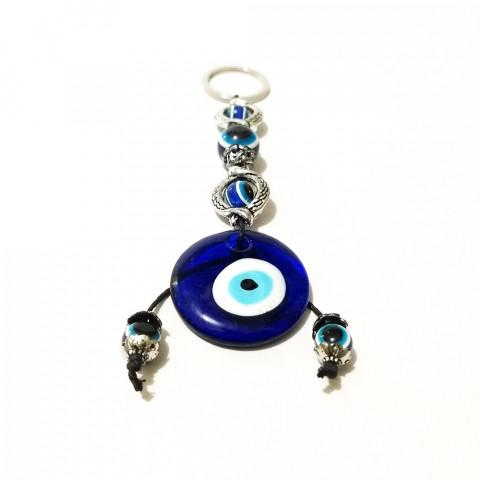 IC0518 - Chaveiro Olho Grego C/ 3 Talismãs