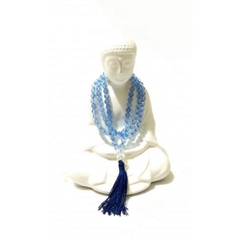 TS007 - Japamala Acrílico Azul 108 Contas
