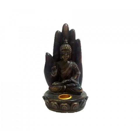 CPB001729234 - Buda Na Mão P (Incensário)