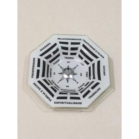 H1162 - Incensário de Vidro Vertical  Bagua Preto