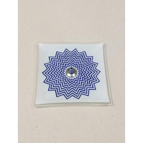 H1053 - Incensário de Vidro Vertical Mandala