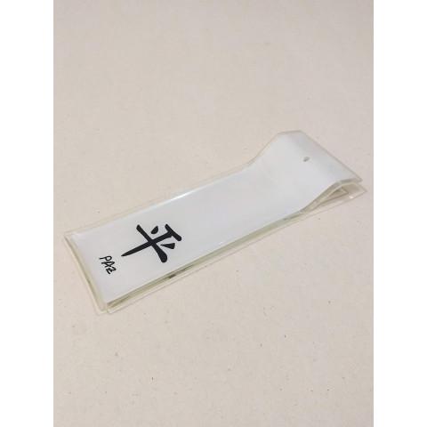 H1063 - Incensário de Vidro Horizontal Paz
