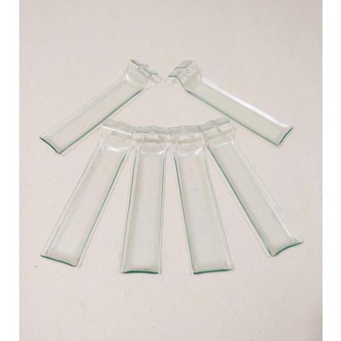 H1158 - Kit Incensário de Vidro Horizontal Transparente