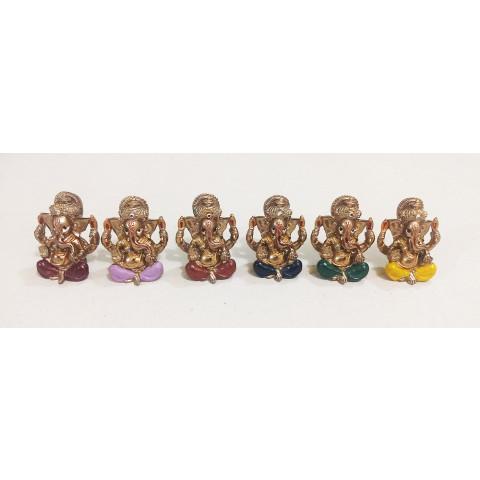 CPA040339234 - Jogo c/ 6 Ganesh Mini Bronzeado