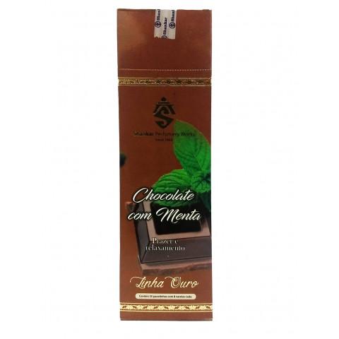 0808 - Incenso Indiano Shankar Chocolate c/ menta