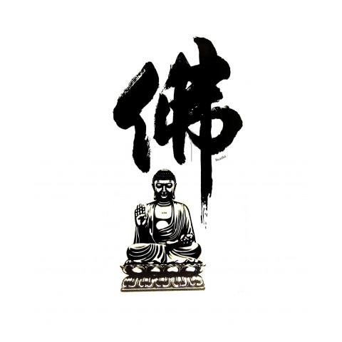 CPLKRC300912-02 Adesivo Decorativo Ideograma Budha