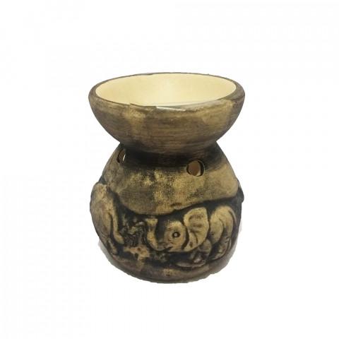 D79-5 - Difusor de Cerâmica Elefante-Preto