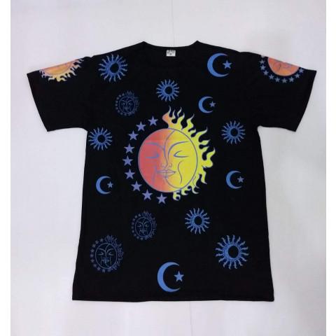 JA004 - Camiseta Preta (Sol & Lua)