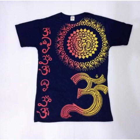 JA010 - Camiseta Azul (Mandala c/ OM)