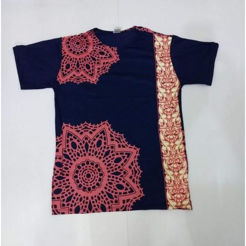 JA012 - Camiseta Azul (Mandala c/ Faixa)