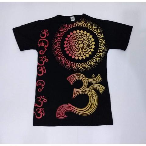 JA019 - Camiseta Preta (Mandala c/ OM)