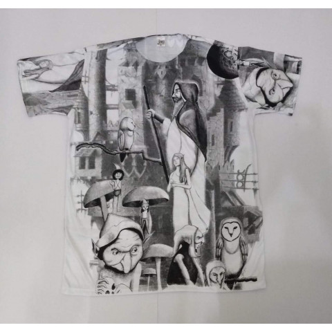 JA020 - Camiseta Branca (Mago c/ Cajado)