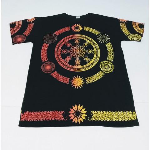 JA040 - Camiseta Preta (Mandala Roda)