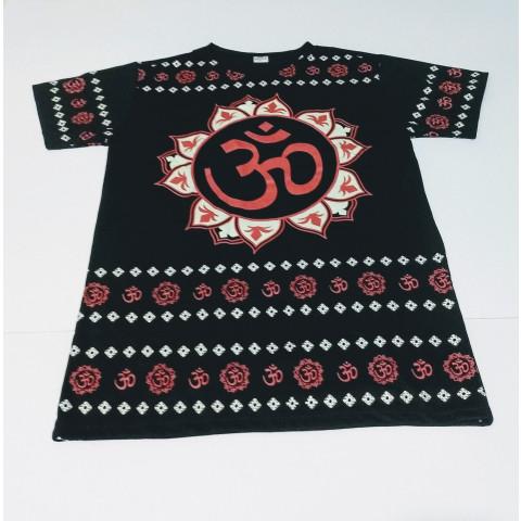 JA042 - Camiseta Preta (OM c/ Lótus)