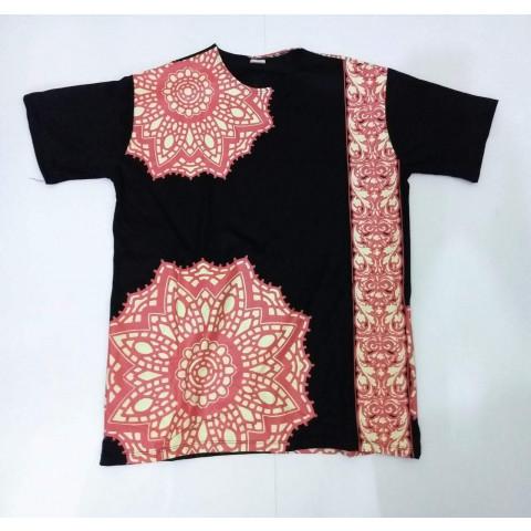 JA043 - Camiseta Preta (Mandala c/ Faixa)