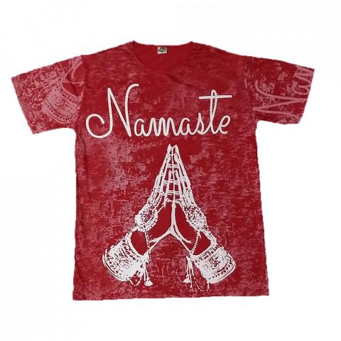 JA045 - Camiseta Vermelha (Namaste)