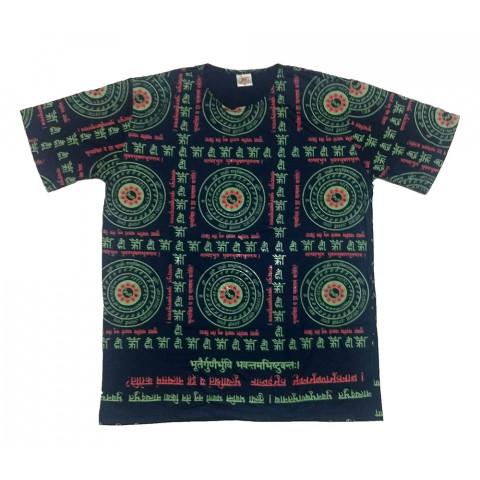 JA047 - Camiseta Azul (Mandalas VI)