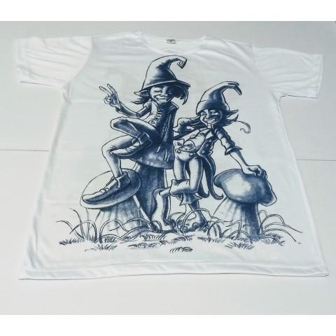 JA051 - Camiseta Branca (Dupla de Duendes)