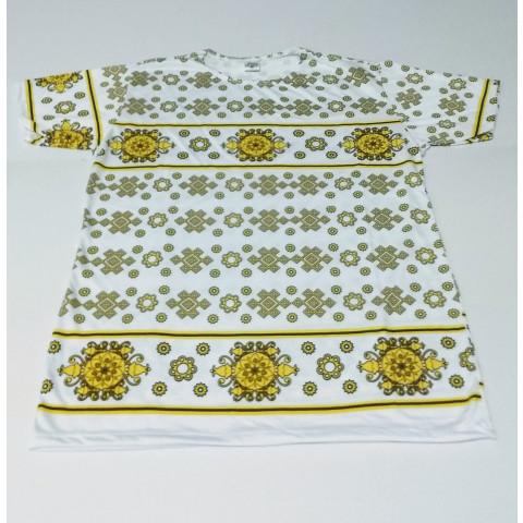JA055 - Camiseta Branca (Símbolos Amarelos)