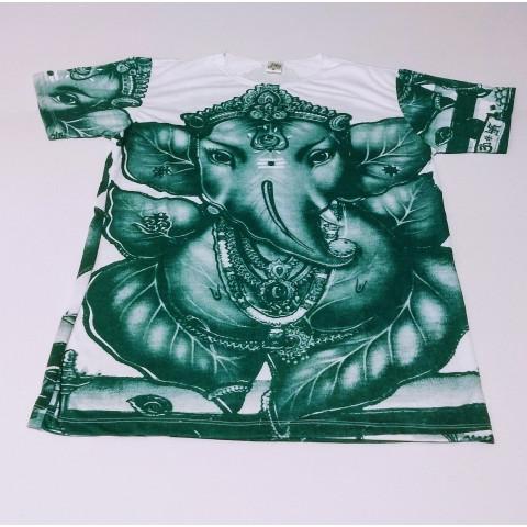 ja056 - Camiseta Branca (Folha Ganesh)