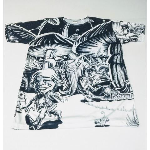 JA059 - Camiseta Branca (Cogumelos)