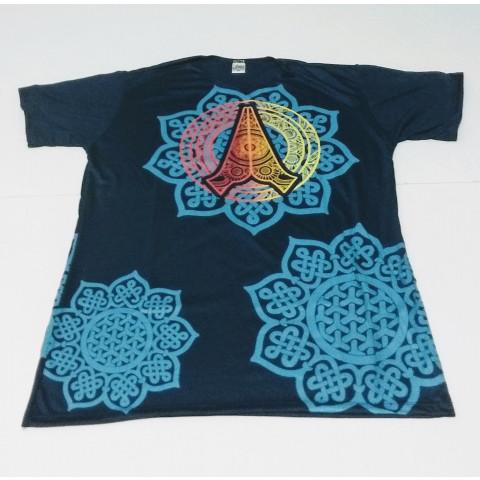 JA083 - Camiseta Azul (Lótus c/ Hamsa)