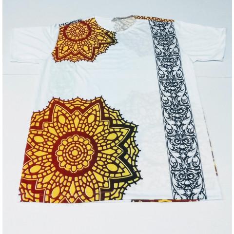 JA086 - Camiseta Branca (Mandala c/ Faixa)