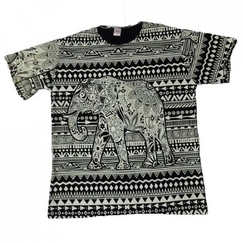 JA103 - Camiseta Preta (Elefante)