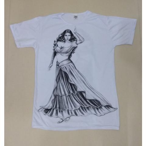 JA115 - Camiseta Branca (Pomba Gira/Cigana)