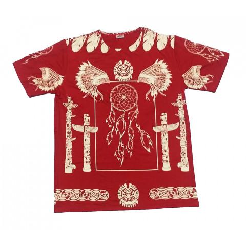 JA143 - Camiseta Vermelha (Xamanica C/ Filtro Dos Sonhos)