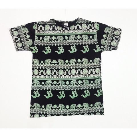 JA156 - Camiseta Preta (Elefantes c/ OM)