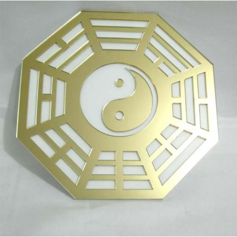 MA4100-04 - Bagua Acrilico Espelhado Dourado