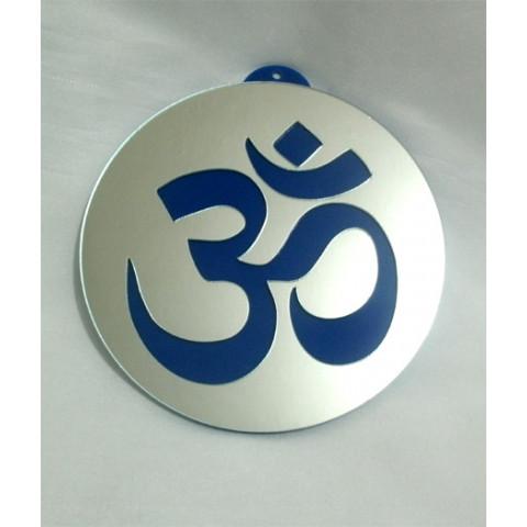MA4101-05 - Mandala OM Acrilico Espelhado Azul (P)