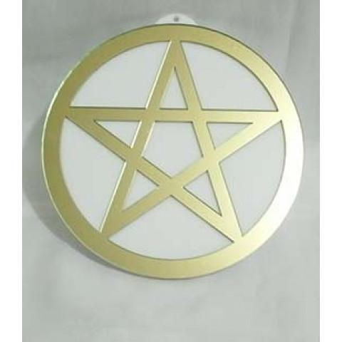 MA4102-20 - Mandala Pentagrama Acrilico Dourado