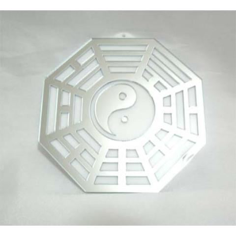 MA4104-01 - Baguá Acrílico Espelhado Branco (9cm)