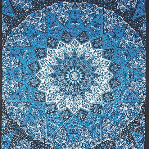 JMD806-111 - Manta Indiana Mandala Azul II