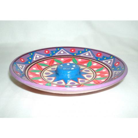 MC3029-02 - Incensário Ceramica Peruana Pequeno (p/ 5 Varetas)