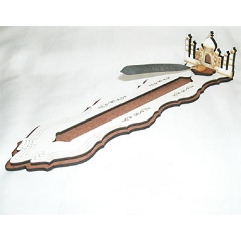 ME5907-1 - Incensário Canaleta Madeira Taj Mahal Bco (G)