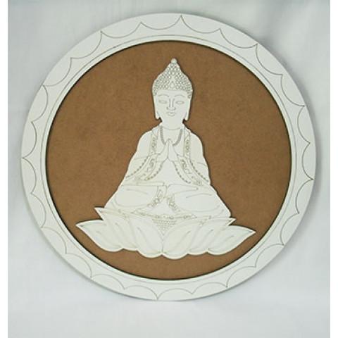 ME5910-5 - Mandala Madeira Budha Bco (35cm)