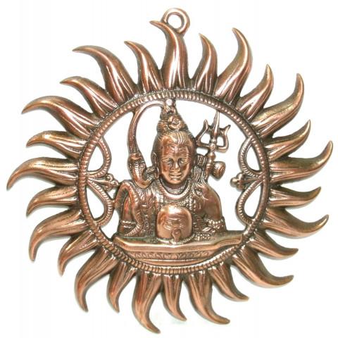 MH2073-16 - Escultura Shiva c/ Aro (Parede)