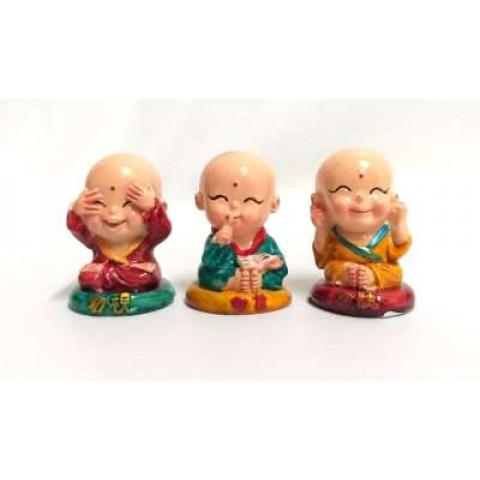 CPA076059105 - Jogo c/ 3 Monge Zen (Y-163)